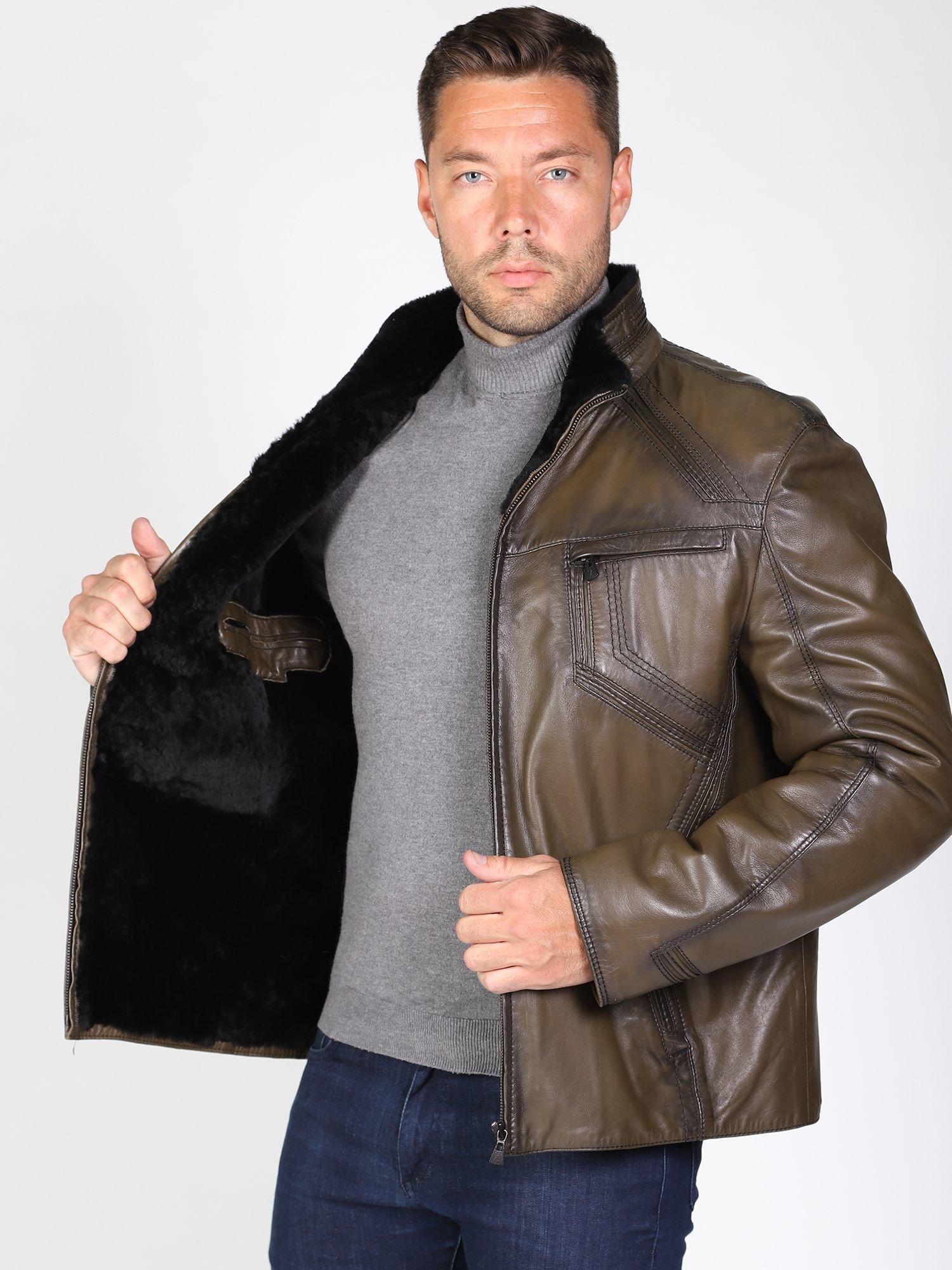 кожаная куртка с мехом в москве